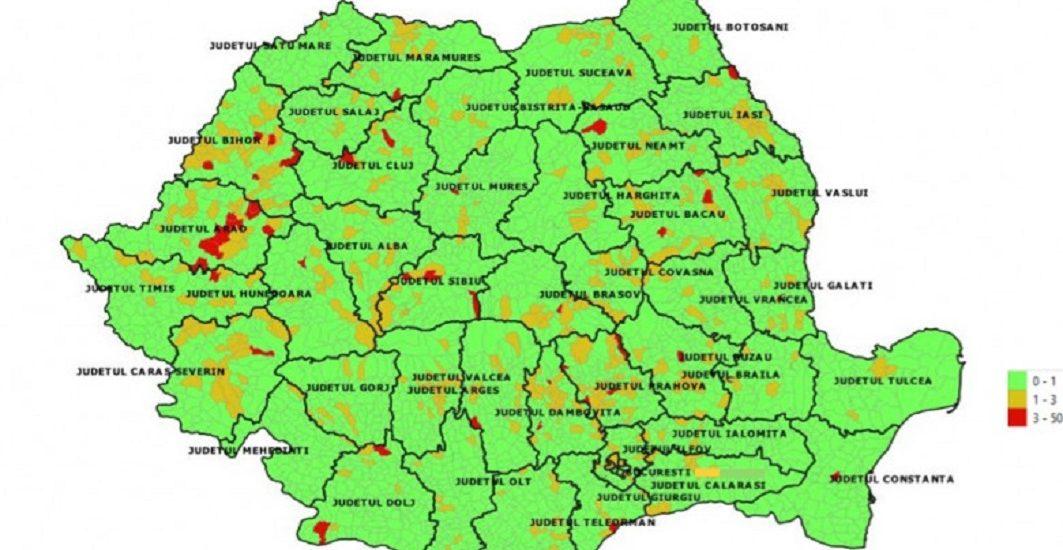 Masuri de restrictii pentru 25 de localitati din judetul Bihor. Incidenta cazurilor confirmate de Covid-19 depaseste 1,5/mia de locuitori