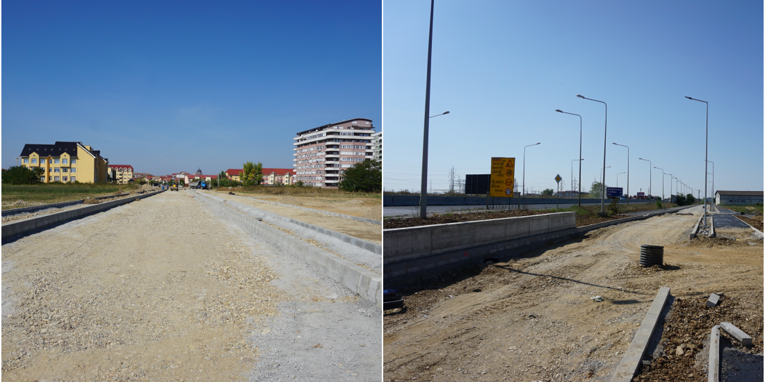 Avansează lucrările la drumul colector aferent șoselei de centură și la strada Ion Irimescu din zona Nufărul