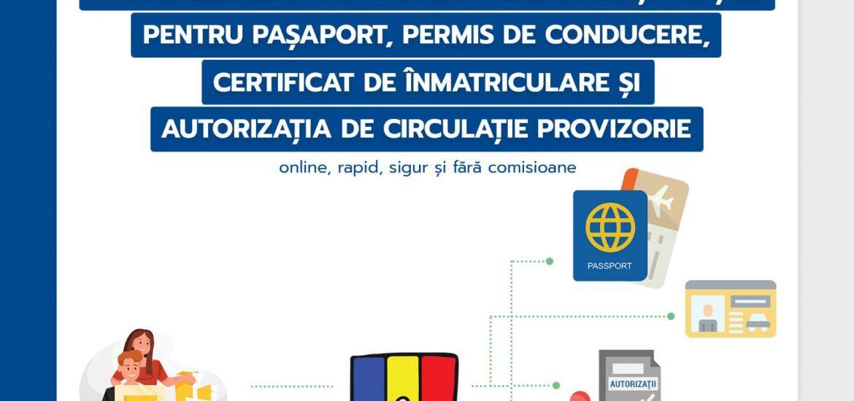 Incepand de ieri se pot plati online taxele pentru pasapoarte permise si certificate de inmatriculare, prin ghiseul.ro