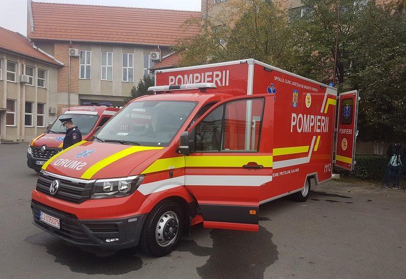 Oradea are o autospecială performantă, care va putea transporta pacienții critici extrem de contagioși