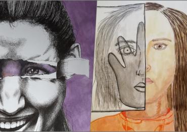 Desene cu mesaje antiviolenta, create de copii sub indrumarea polițiștilor de prevenire bihoreni