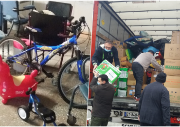 Donatie, constand in ajutoare umanitare, facuta de o firma din Luxemburg pentru centrele sociale din Oradea