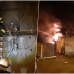 Incendiu violent la o casa din Oradea. Cauza ar fi centrala termica amplasată necorespunzător față de materialele combustibile.