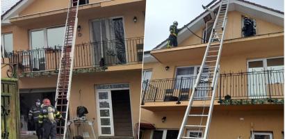 Incendiu la o casa din Oradea, cauzat de cosul de fum neprotejat termic