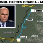 Ilie Bolojan: Astazi a fost lansata licitatia pentru construirea drumului expres Oradea-Arad. Investitia va fi in valoare de 1 miliard de euro