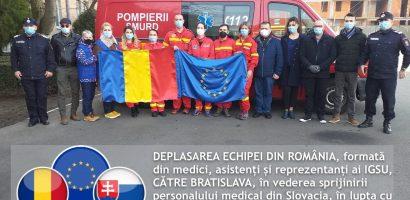 Medici oradeni pleaca la Bratislava pentru sprijinirea personalului serviciilor medicale din Slovacia in lupta cu Coronavirusul
