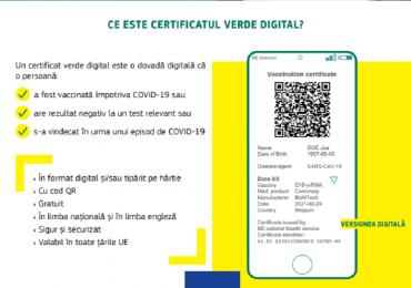 Comisia Europeana a propus crearea unei adeverinte electronice verzi (certificatul verde)