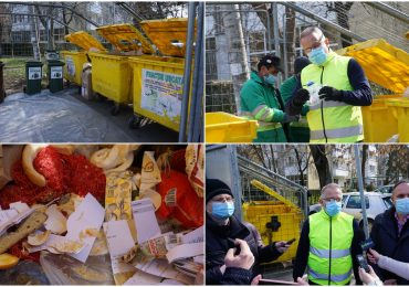 Oradenii deficitari la colectarea selectiva a deseurilor. Demonstratie facuta de viceprimarul Marcel Dragos si directorul RER Vest Zoltán Pálhegyi