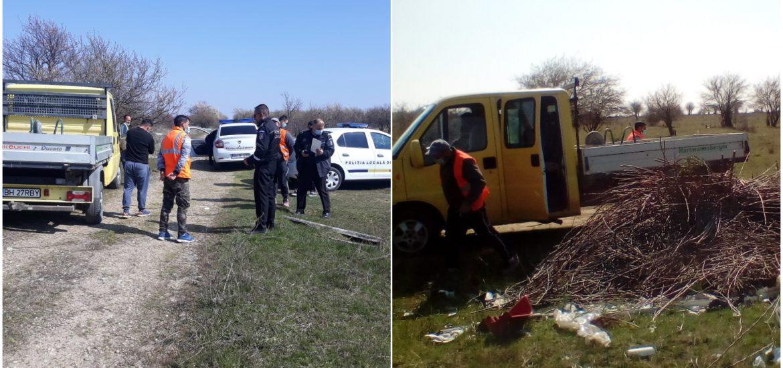 Politia a confiscat o autoutilitara ce a fost suprinsa aruncand deseuri in zona de dealuri a Oradiei