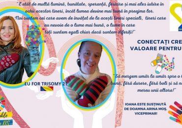 """Viceprimarul Arina Moș susține """"Campania de postere 2021"""" în cadrul Zilei Mondiale a Sindromului Down"""