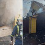 Incendiu in Oradea la o locuinta si garajul in care se afla masina proprietarului