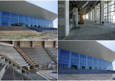 Constructia noii sali de sport din Oradea se apropie de final (Foto)