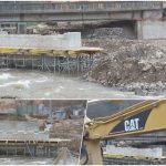 Continua lucrarile de constructie la noul pod peste Crisul Repede de la Bulz