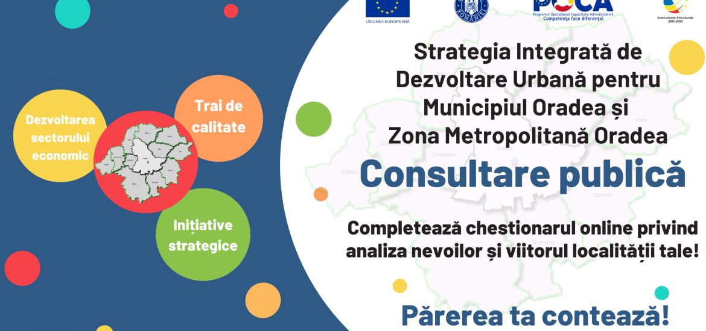 Chestionar pentru locuitorii Zonei Metropolitane a Oradea prin care autoritatile vor sa stabileasca prioritatile proiectelor de dezvoltare locala