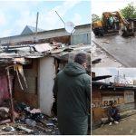 """Boxele de langa blocul """"NATO"""" din Oradea au fost demolate"""