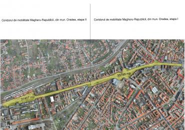 """Se scot la licitație serviciile de proiectare pentru """"Coridorul de mobilitate Magheru – Republicii din municipiul Oradea"""", etapa I și II"""