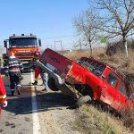 Accident grav in Curtuiseni cu trei persoane ranite grav in urma coliziunii dintre doua autoturisme