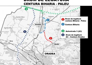 Pregatiri pentru drumul de legatura dintre Paleu si Biharia