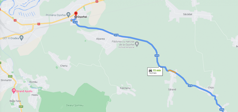 Aproape 13 km de drum dintre Osorhei si Copacel vor fi reabilitati. CJ Bihor va realiza si centurile ocolitoare pentru localitatile Osorhei, Nojorid si Santandrei