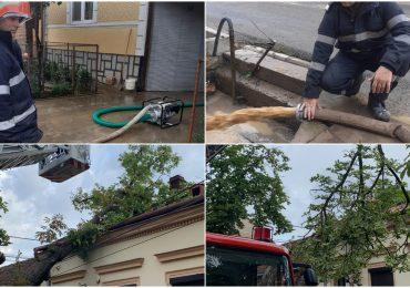 Beciuri inundate, copaci căzuți și o pensiune lovită de trăsnet în urma vijeliei manifestate în județul Bihor