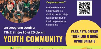 Tinerii din Bihor sunt provocați să se implice pentru dezvoltarea lor și a comunității prin programul Youth Community