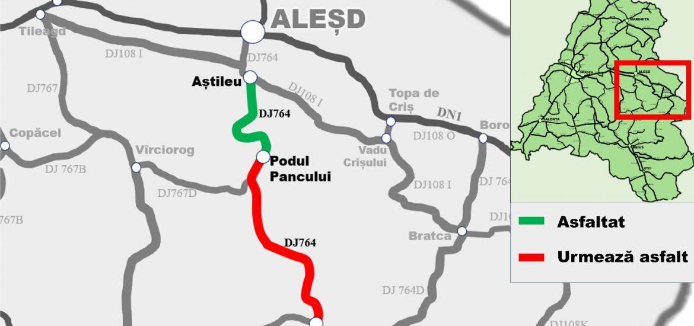 Avansează lucrările la drumul județean Beiuș – Aleșd