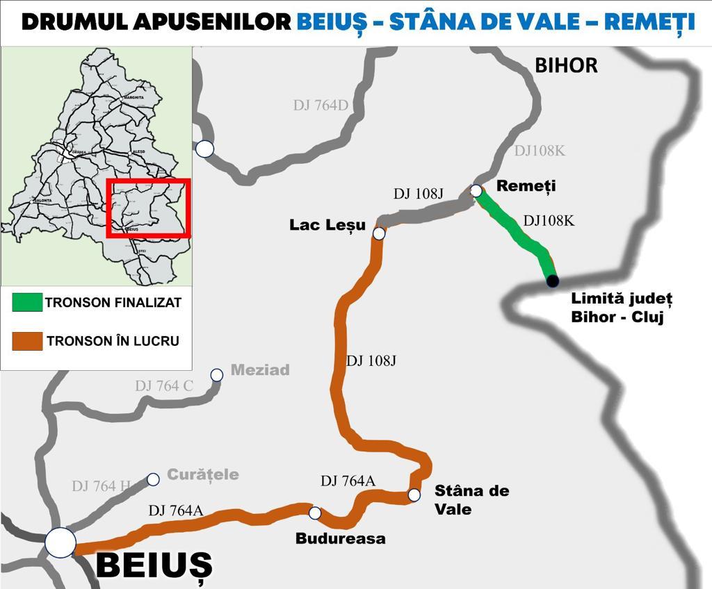 Harta Drumul Apusenilor