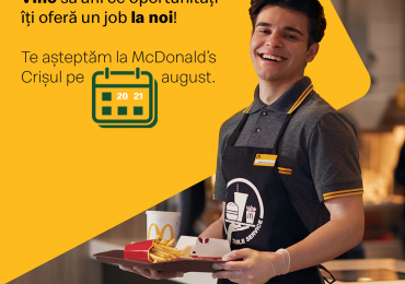 McDonald's deschide ușile restaurantelor din Oradea pentru o experiență unică de recrutare