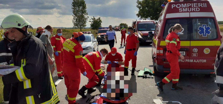 Accident cu victime multiple si o persoana decedata, pe DN 19E langa localitatea Misca