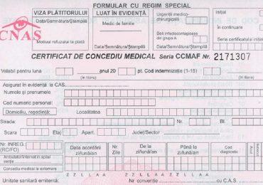 Noi reglementări în modul de acordare a concediilor medicale, în vigoare din 1 august 2021