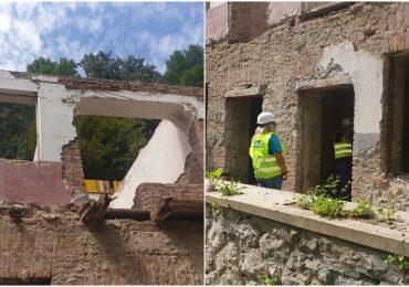 Incepe reconstructia efectiva a cabanei Vadu Crisului. Pana la aceasta ora au fost realizate doar lucrari de consolidare si siguranta