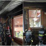 Un pompier șteian, aflat în timpul liber, a împiedicat mistuirea unei cabane din satul de vacanță Vârtop