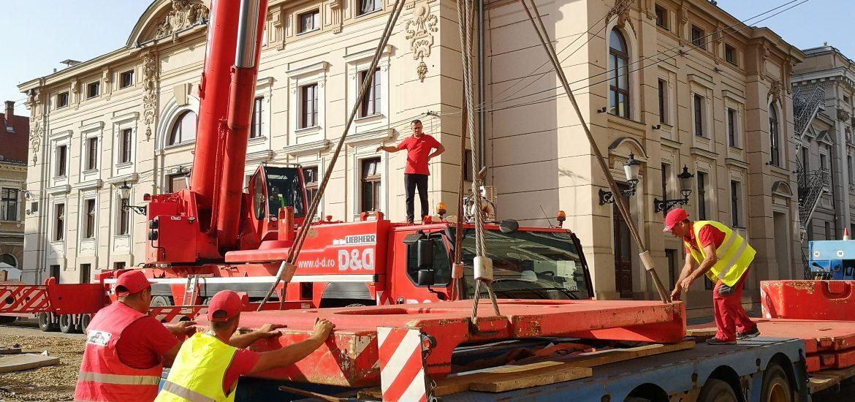 Se montează punctele de transformare din Piața Ferdinand