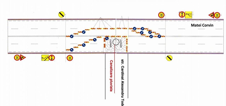 Restrictii de circulatie pe strada Matei Corvin din Oradea