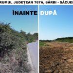 Continuă curățenia marginilor drumurilor județene
