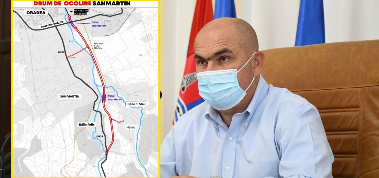 A fost stabilit traseul centurii Sanmartin. Bolojan: Vrem ca la finalul anului 2023 această centură să devină realitate