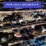 Peste 500 de obiecte de îmbrăcăminte și încălțăminte susceptibile a fi contrafăcute, în valoare de 32.000 de lei, confiscate de polițiștii de la investigarea criminalității economice din două magazine din Tinca.