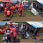 Accident cu 19 victime intre Valea lui Mihai si Curtuiseni. Doua dintre victime au fost transportate cu elicopterul. Planul rosu de intrerventie a fost activat