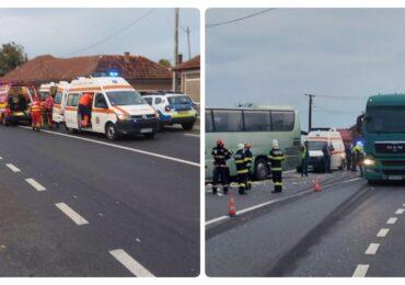 Vinovatul accidentului de ieri din Dusesti, soldat cu 12 persoane ranite, a fost produs de soferul TIR-ul, care nu a adaptat viteza la conditiile de drum