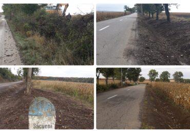 Continuă acțiunile de curățenie pe drumurile județene